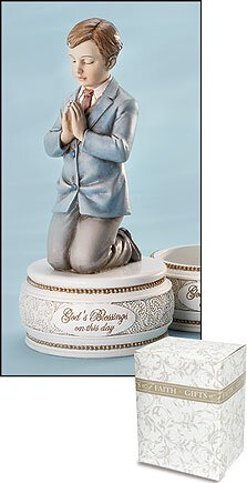 First Communion Figurine Rosary Box - Boy
