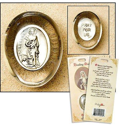 St Agatha Healing Saint Pocket Stone