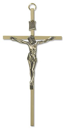 Brass Crucifix With Gold Plated Corpus