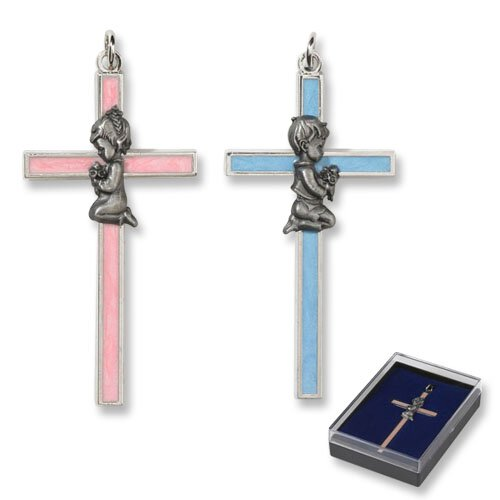 Pearlized Enamel Baby Cross