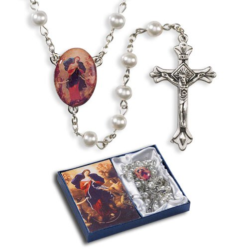 Mary, Untier Of Knots Pearl Rosary