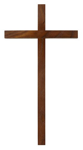 Narrow Genuine Walnut Cross