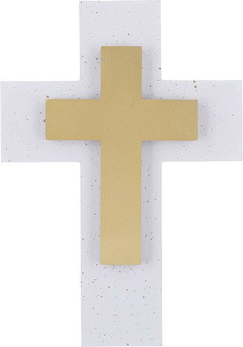 Gold Marble Wall Cross