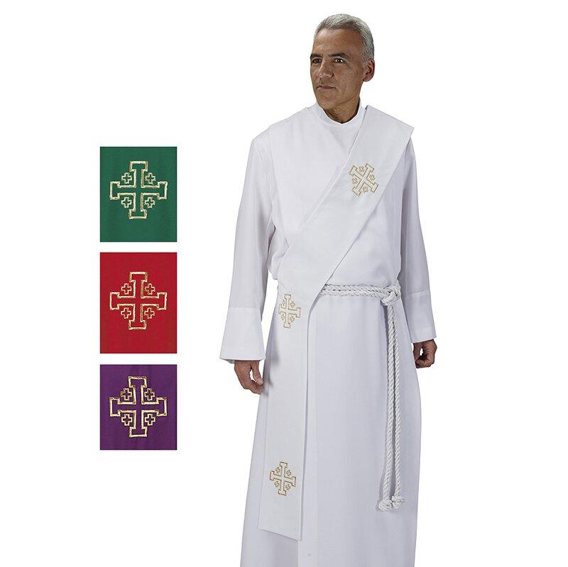 Jerusalem Cross Deacon Stole - 4/set