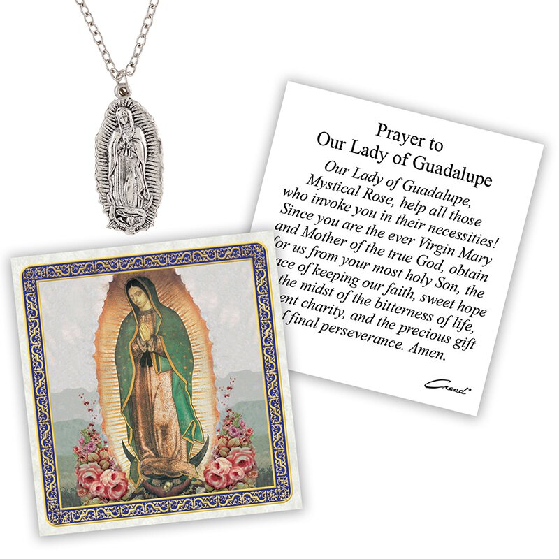 Our Lady of Guadalupe Devotional Medal with Chain - 12/pk
