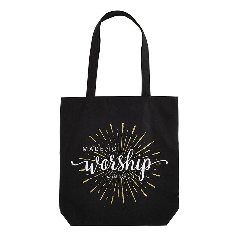 Made to Worship Canvas Tote Bag - 12/pk