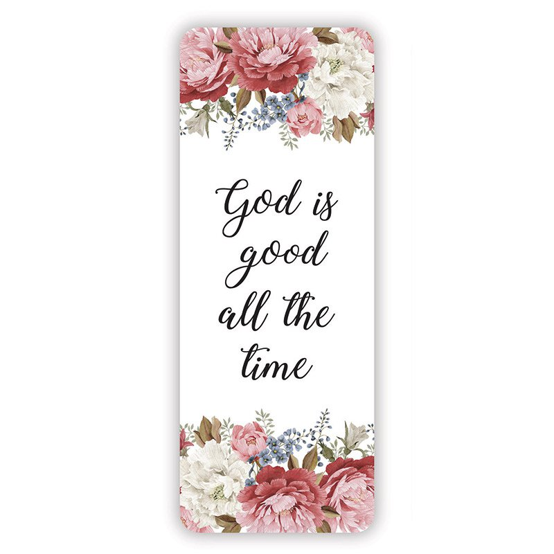 God is Good All the Time Floral Jumbo Bookmark - 36/pk