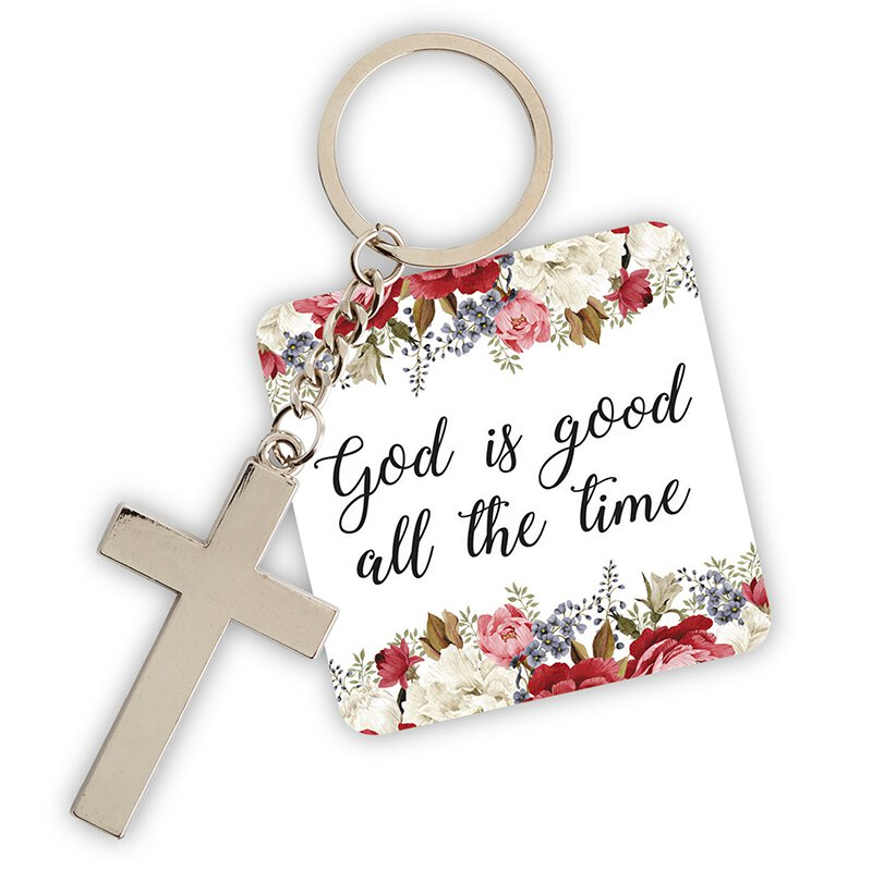 God is Good All the Time Key Chain with Card - 12/pk