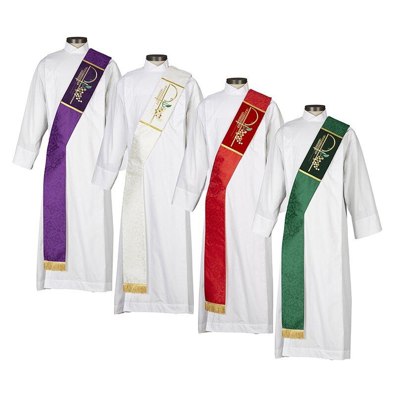 Eucharistic Jacquard  Deacon Stole - 4/set