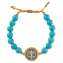 St. Benedict Turquoise Bracelet - 3/pk