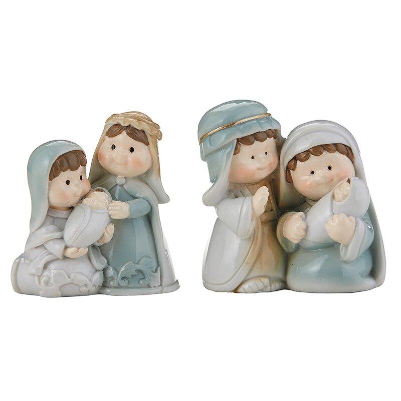 Childlike Nativity Figurine Assortment (2 Asst) - 12/pk