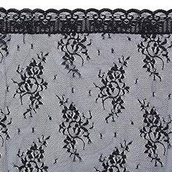 Black Lace Traditional Chapel Veil - 2/pk
