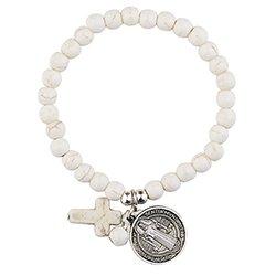 St. Benedict Stone Bracelet Assortment - 16/pk