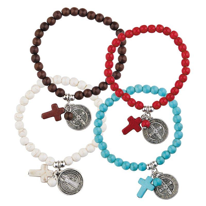 St. Benedict Bracelet Assortment (4 Asst) - 16/pk
