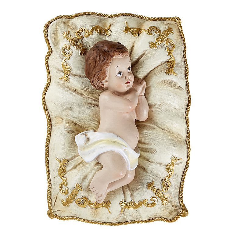 Infant Jesus on White Pillow - Small