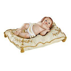 Infant Jesus on White Pillow - Large