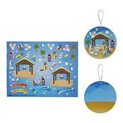 Nativity Sticker Ornament - 36/pk