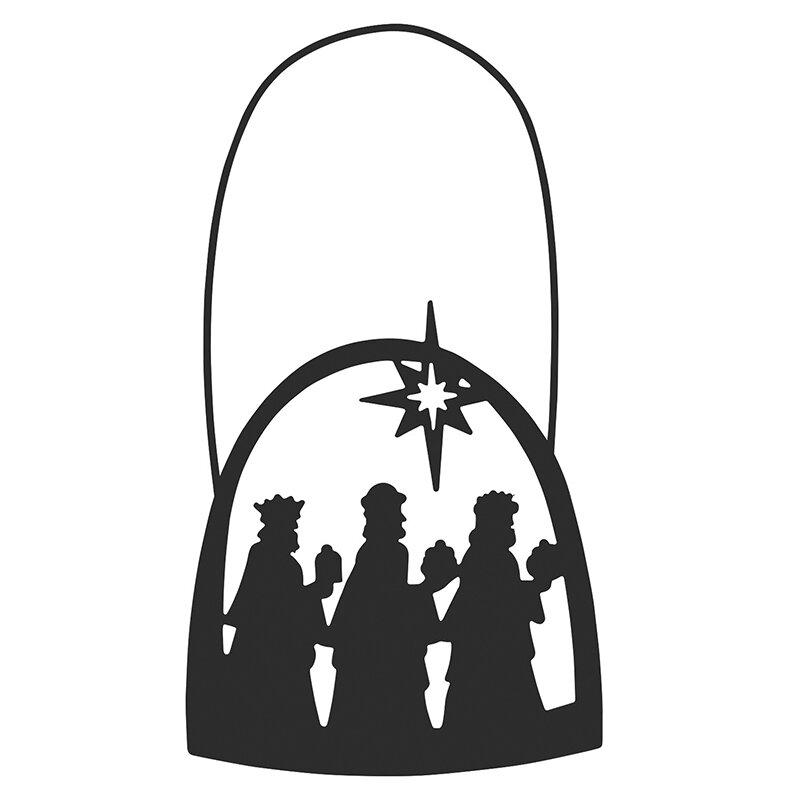 Three Kings Silhouette Ornament - 12/pk