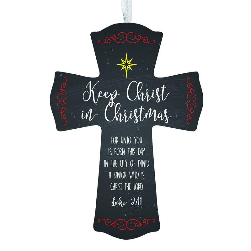 Keep Christ in Christmas Wood Cross - 12/pk