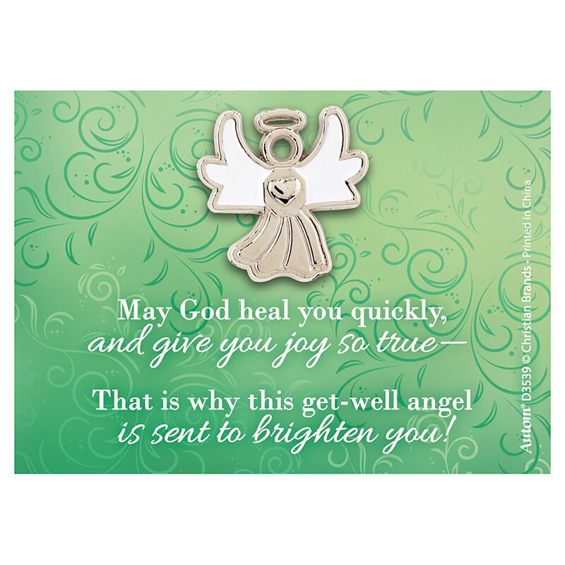 Get Well Angel Pin with Card - 24/pk