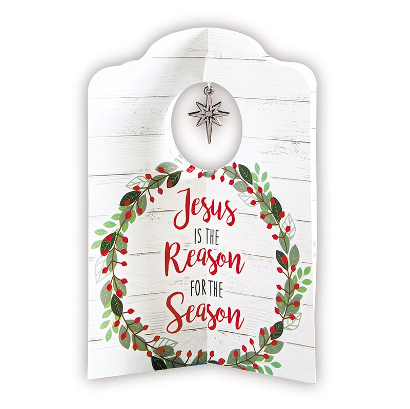 Jesus is the Reason Card with Ornament - 12/pk