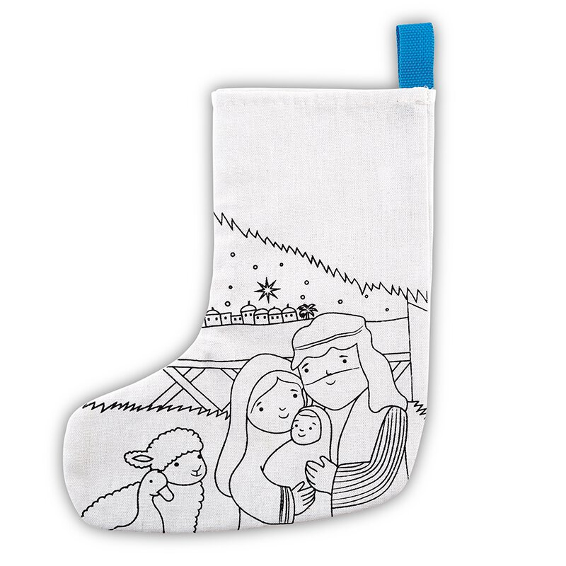 One Starry Night Color-Your-Own Stocking - 12/pk