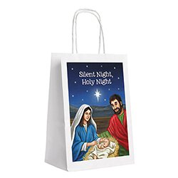 Silent Night, Holy Night Gift Bag - 24/pk