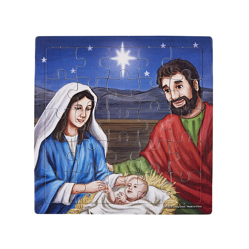 Silent Night, Holy Night Puzzle - 12/pk