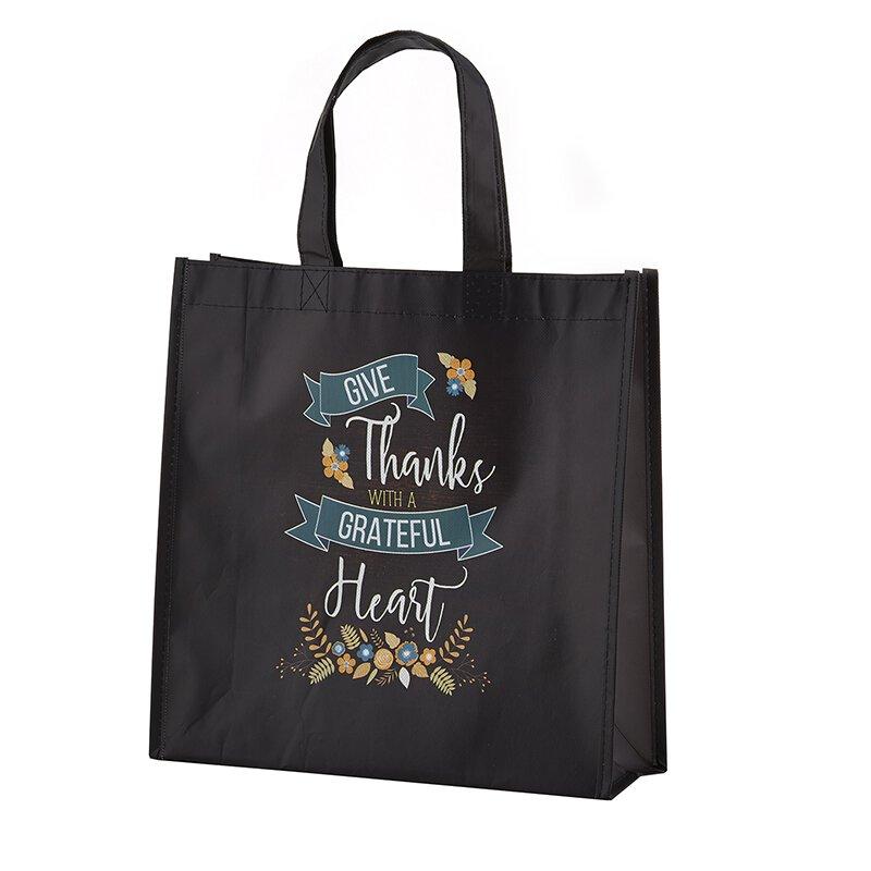 Grateful Heart Laminated Tote Bag - 12/pk