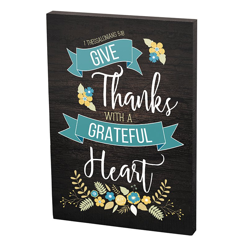 Grateful Heart Plaque - 12/pk