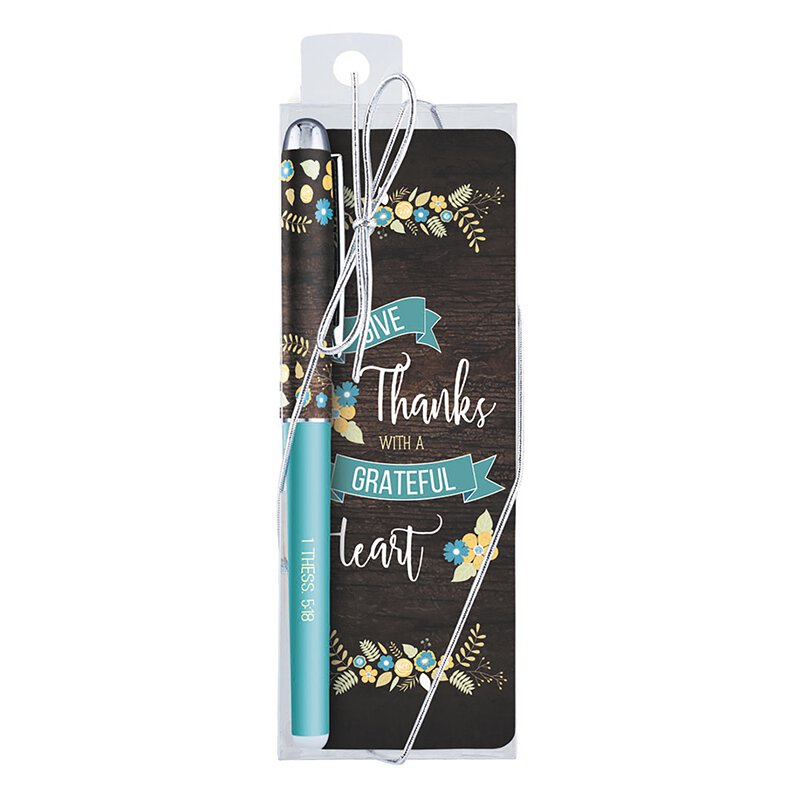 Grateful Heart Gift Pen with Bookmark - 12/pk