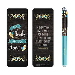 Grateful Heart Gift Pen with Bookmark