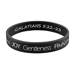Fruit of the Spirit Silicone Bracelet with Card - 24/pk