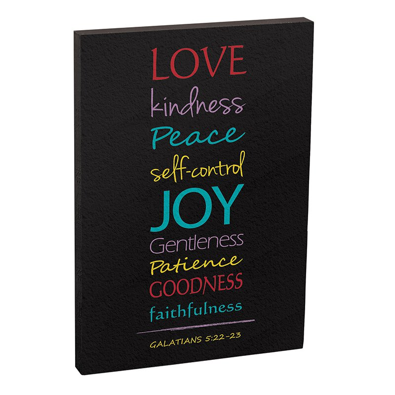 Fruit of the Spirit Plaque - 12/pk