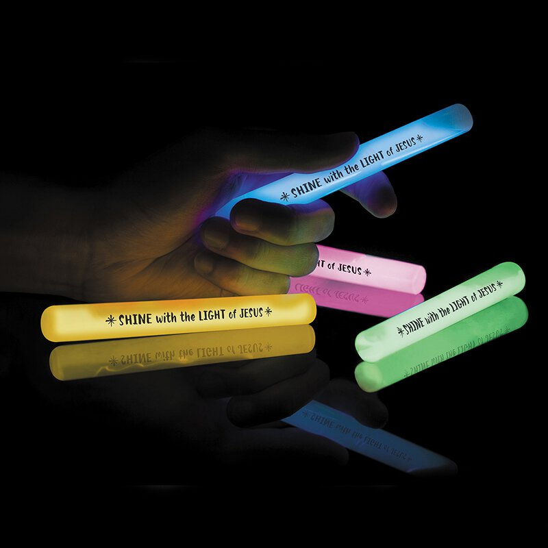 Shine with the Light of Jesus Glow Stick Assortment - (4 Asst) - 16/pk