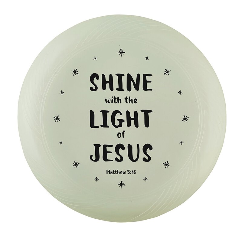 Shine with the Light of Jesus Glow-in-the-Dark Flying Disc - 12/pk