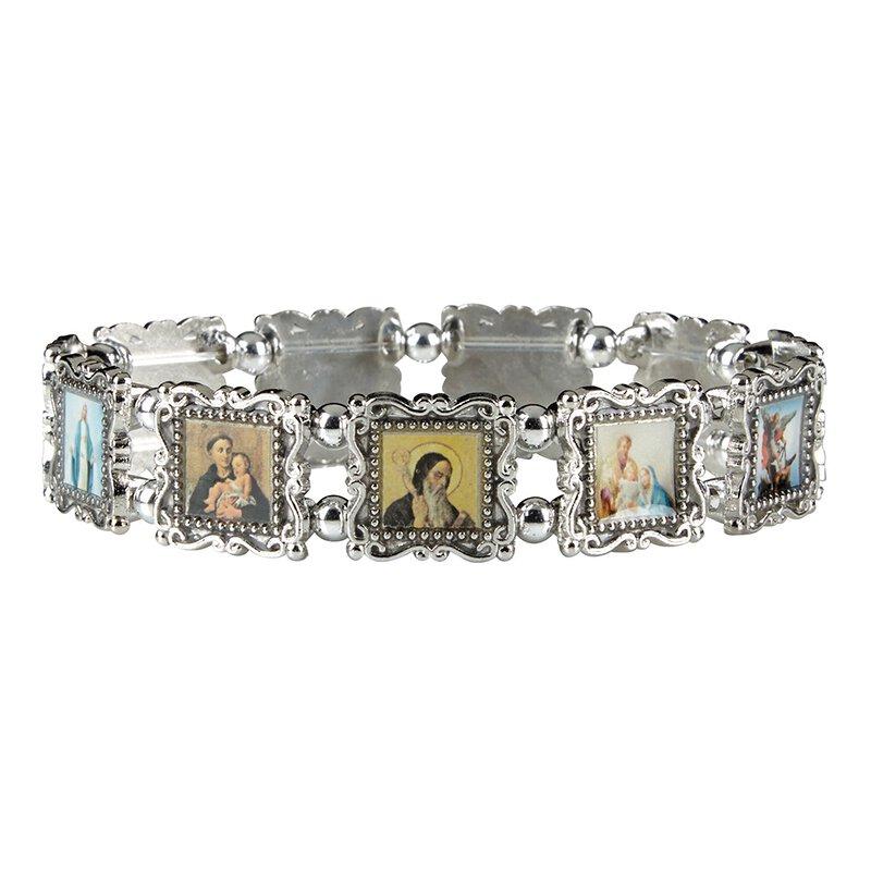 Silver Patron Saints Bracelet - 4/pk