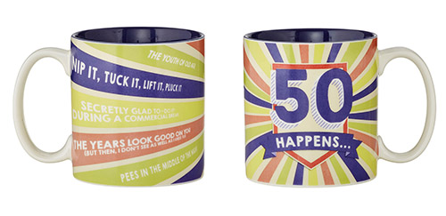 50 Happens Mug