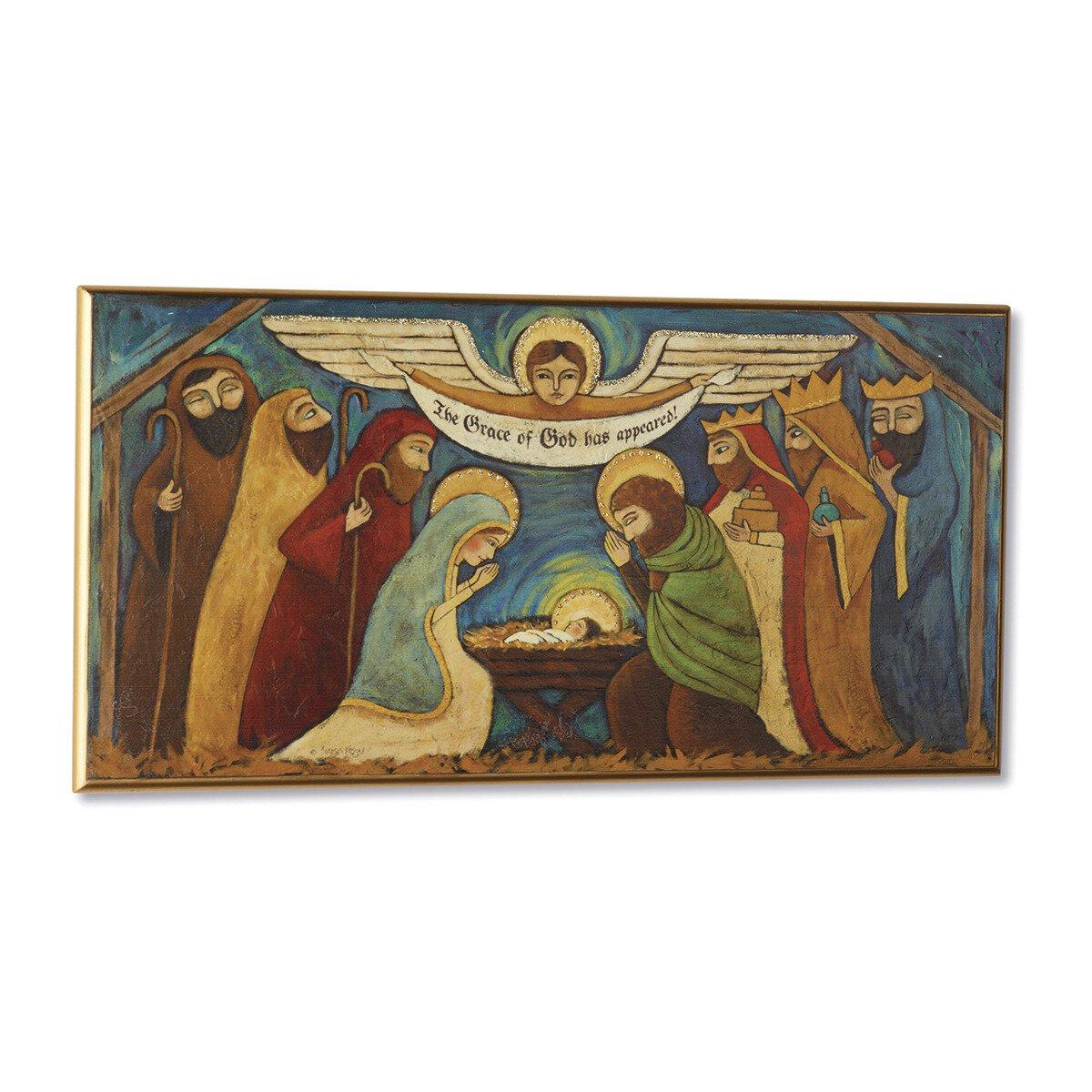 Rejoice Nativity Wall Plaque