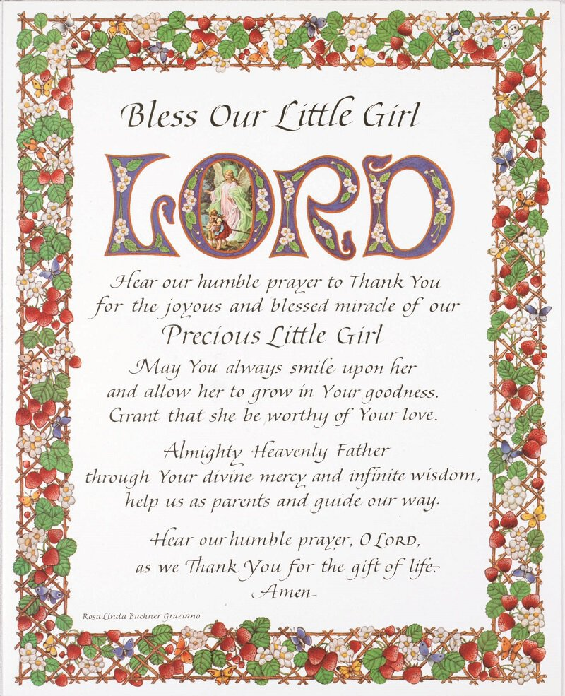 Print Bless Our Little Girl 100 Pk
