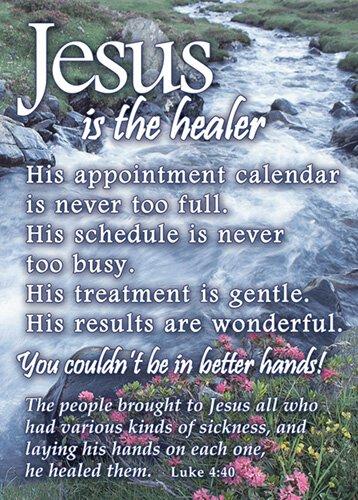 Verse Cards Jesus Healer