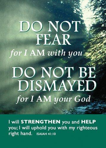 Verse Cards Do Not Fear
