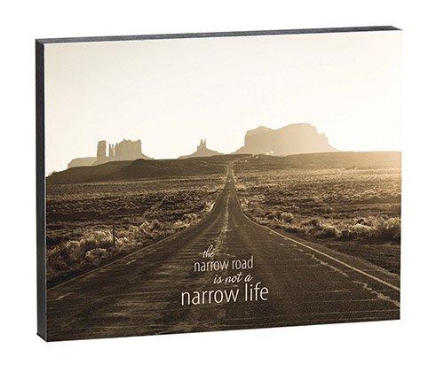 "Narrow Road - 10"" X 8"" Box Sign"