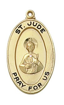 Gold St. Jude Special Devotion Medal