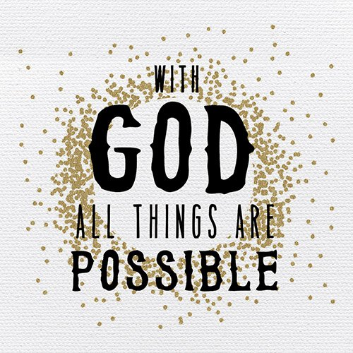 Heart Of Gold - With God All Things Are Possible - Plaque