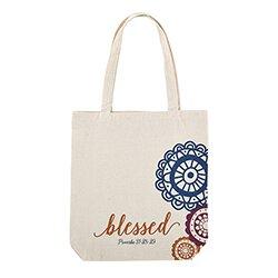 Noble Woman Canvas Tote Bag - 12/pk