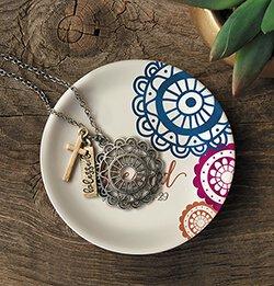 Noble Woman Jewelry Dish - 6/pk