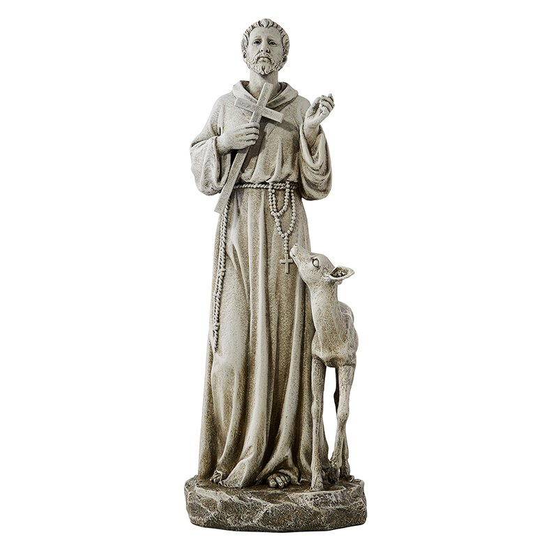 Avalon Gallery™ St. Francis with Deer Statue