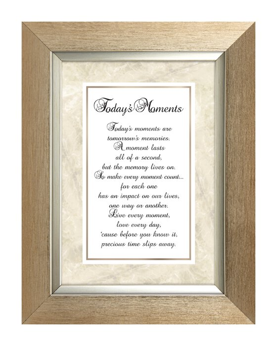 Today's Moments -7 X 9 Framed Tabletop - Discontinued