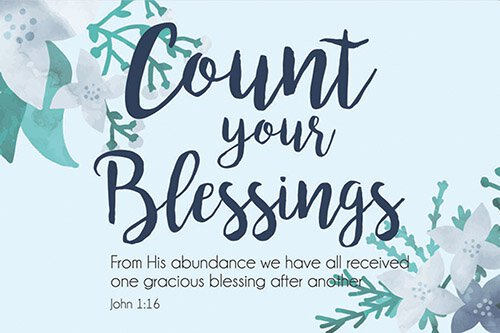 Pass It On - Count Your Blessings